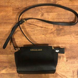 Selma Mini Saffiano Leather Crossbody